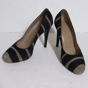 Bruno Magli Suede Abstract Art to Wear Pumps